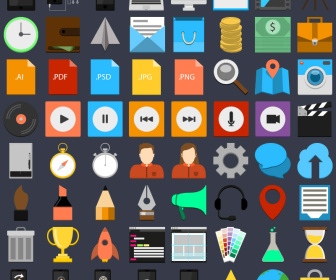 Free Flat Vector Icon Set