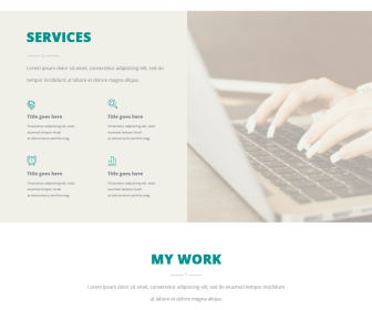 Free PSD One Page Layout