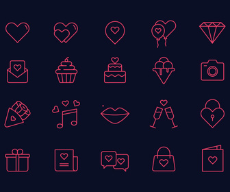 Free Sant Valentines Icon Set