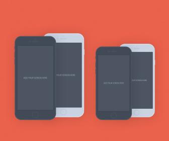 iPhone 6 Plus Flat Mockup