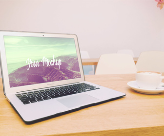 Macbook Air Mockup Free PSD