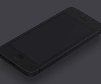 Minimal Black iPhone Template