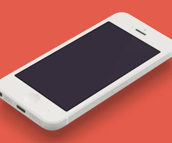 Minimal iPhone 5 Template PSD