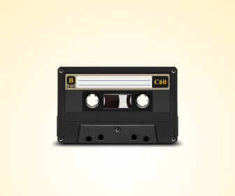 Old Cassette PSD file