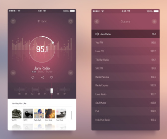 Radio iOS 7 App UI