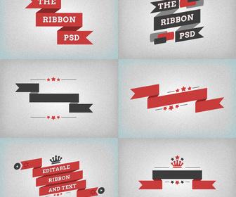 Flat Free PSD Ribbons