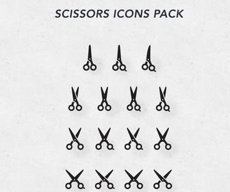 Scissors Icons PSD Pack