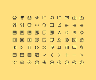 70 Simple Icons