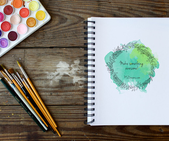 Sketchbook Free PSD Mockup