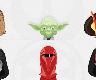 Star Wars Avatars Free PSD, Vol 2