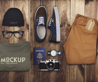 Travel and Clothes Mockup