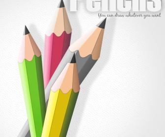 Free Vector Pencils PSD