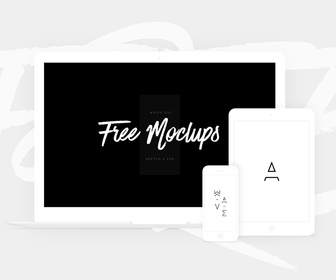 White Devices Mockup - Sketch and PSD