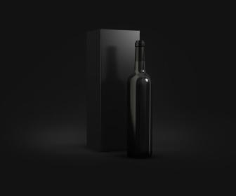 Free Wine Bottles Mockup PSD